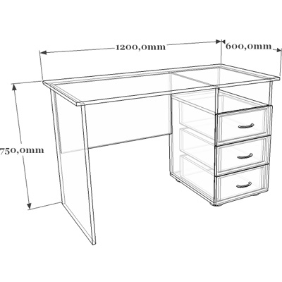 Схема стола письменного